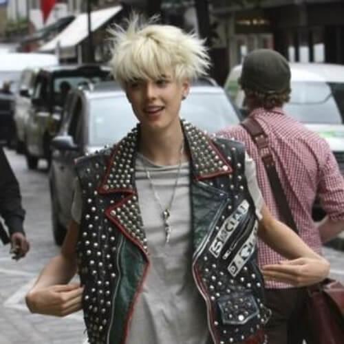 bangs short punk hairstyles