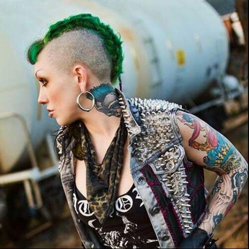 green short punk hairstyles