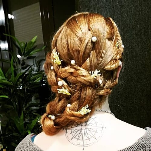 mermaid braid crimped hairstyles