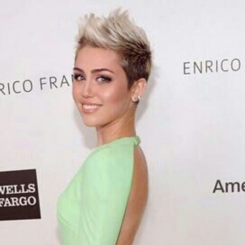 fauxhawk miley cyrus haircut