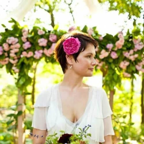 garden wedding hairstyles for short hair