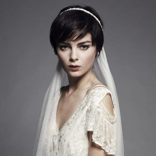 retro wedding hairstyles for short hair