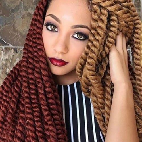 Crochet Braids - Two Toned hairstyles Havana Mambo Twists