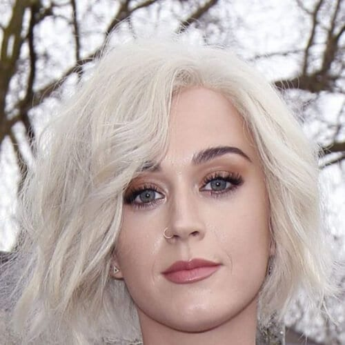 platinum bob katy perry hairstyles