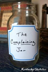 When Kids Complain–The Complaining Jar