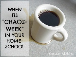 When its Chaos-Week in Your Homeschool
