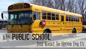 The Road that Led to Homeschool: Why Public School Just Wasn't an Option for Us