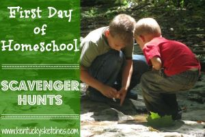 First Day of Homeschool Scavenger Hunts