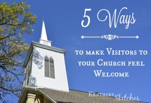 Five Ways to Make Visitors to Your Church Feel Welcome