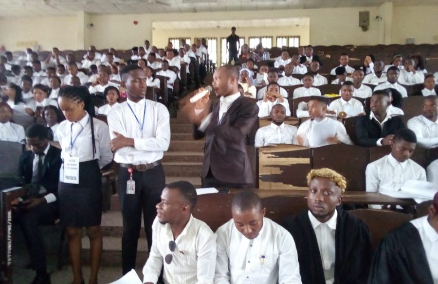 The newly inducted student barristers