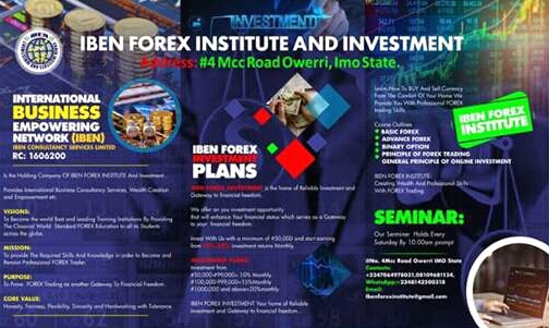 IBEN FOREX INSTITUTE AND INVESTMENT