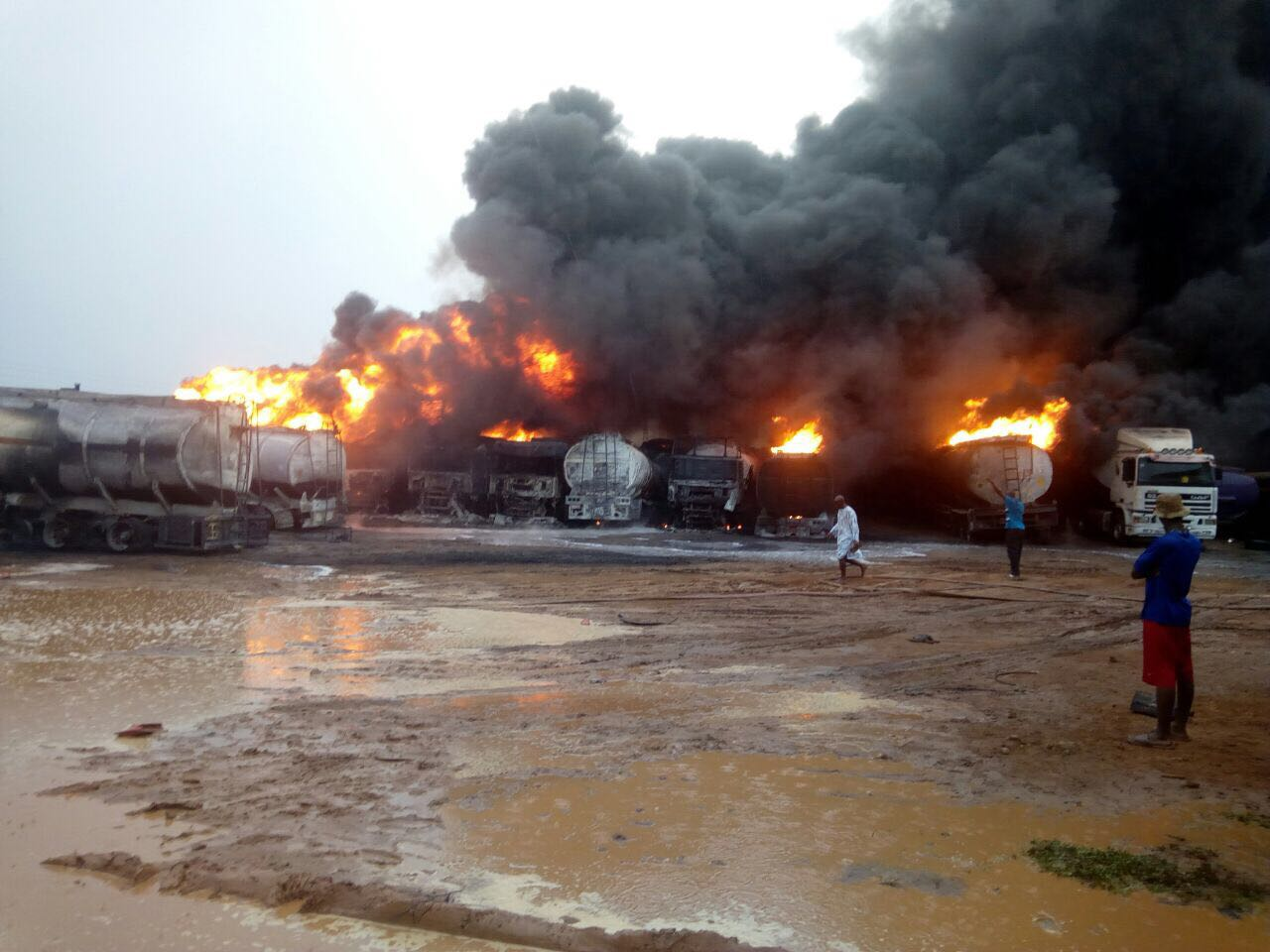 Only a goat died in Ashaiman Tanker Explosion-GNFS PRO