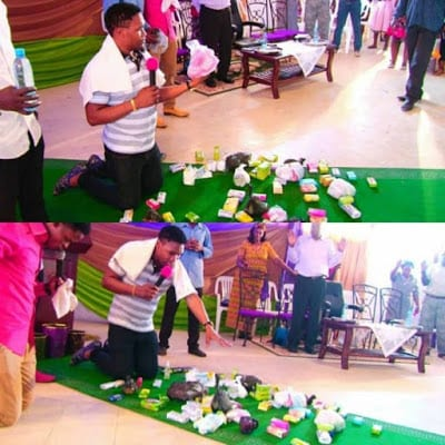 Zambian Prophet prays on 'Ladies' Soap to entice men