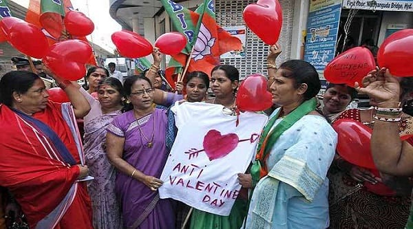 Students protest against Valentine, say it encourages free sex