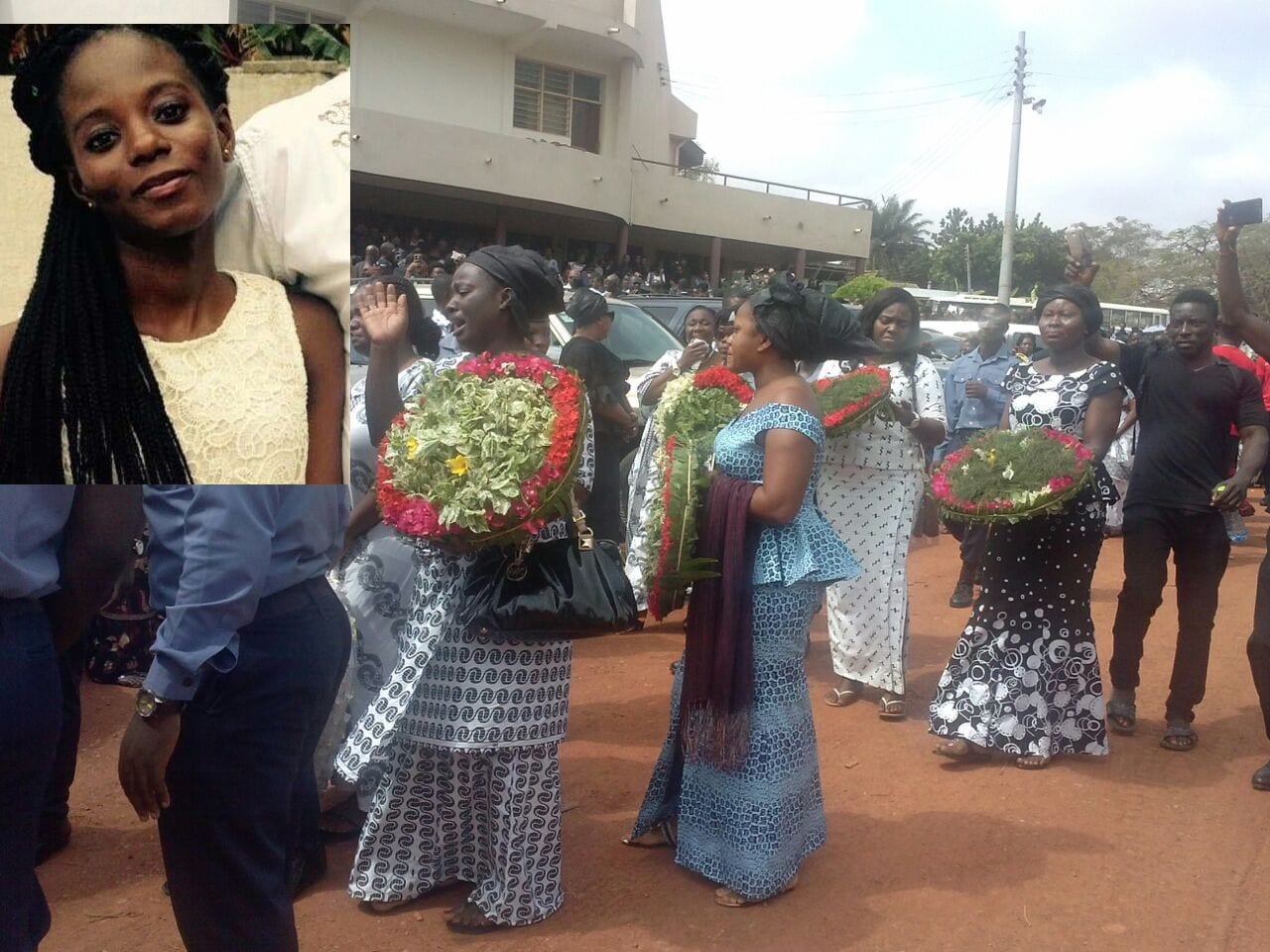 Tears Flow for KNUST Suicide Student at Burial