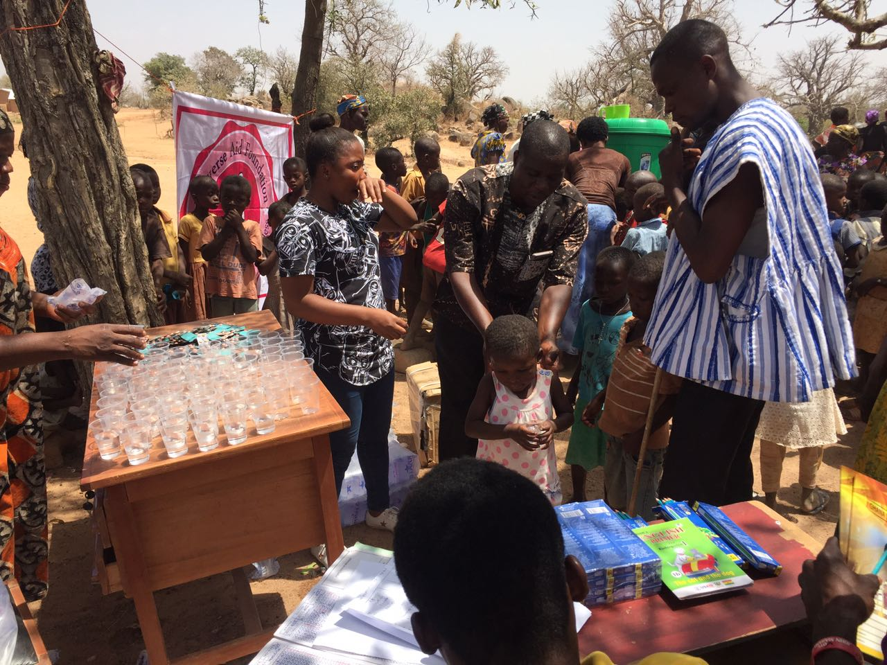 NGO  Deworms and  Donates to  Schools in the Upper East