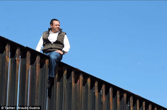 Mexican Congressman Mocks Trump by Climbing Fence