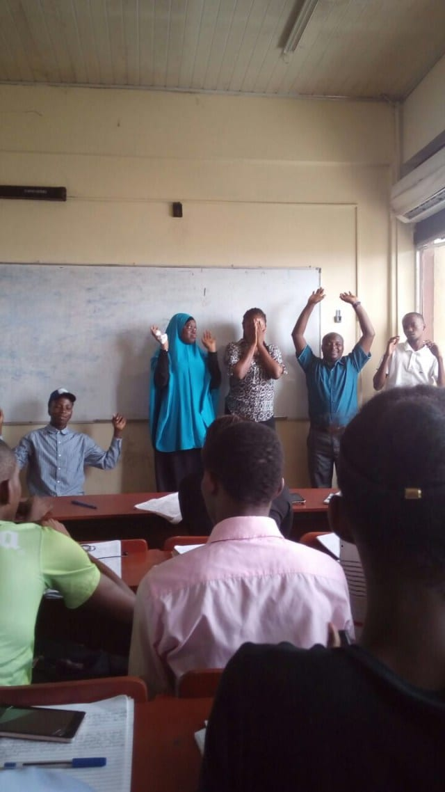 University students punished to kneel & raise hands for unable to spell a word
