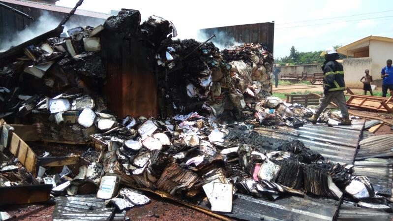 Vital documents belonging to NHIS consumed by fire