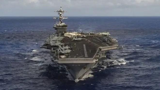 US warships deployed to Korean peninsula
