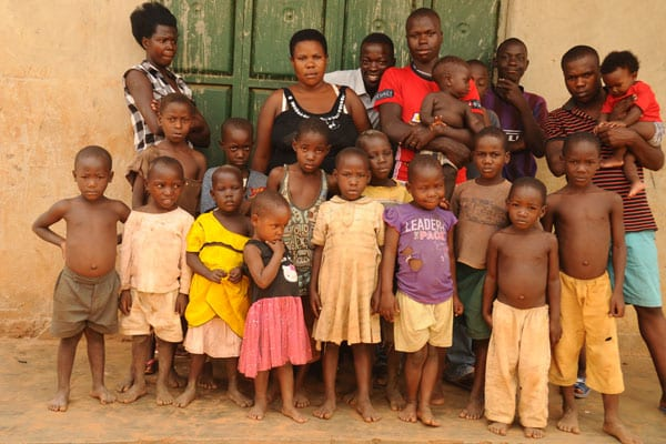 37-year-old woman who has given birth to 38 children