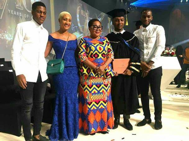 Photos from John Mahama's son's graduation ceremony