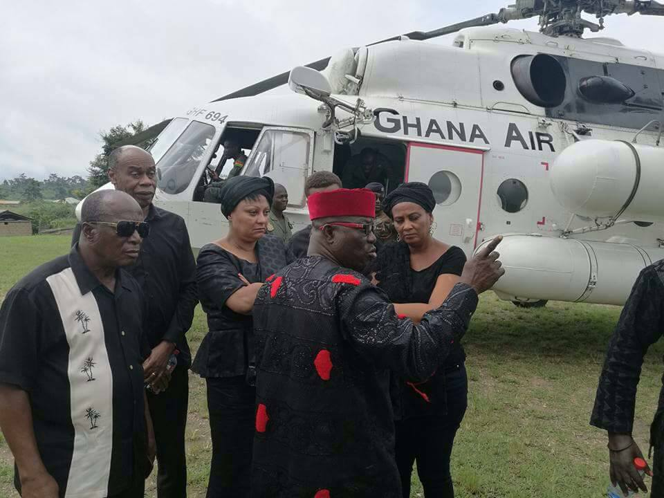 PHOTOS:When late Major Mahama's family stormed Denkyira-Boase