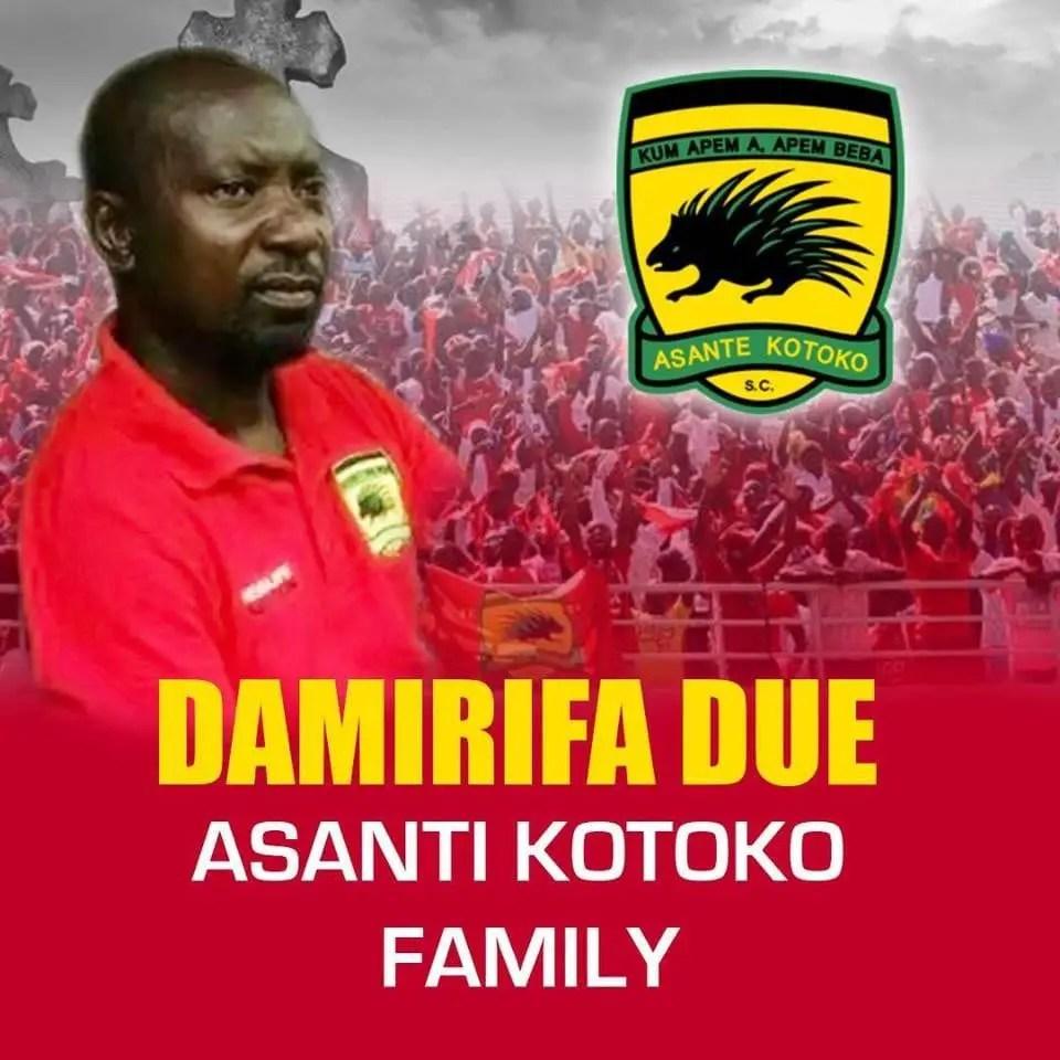 Body of dead Asante Kotoko official arrives in Kumasi