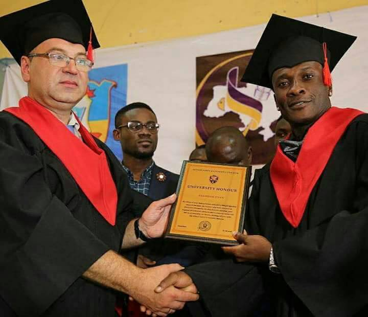 Asamoah Gyan Grabs Honorary Doctorate Degree