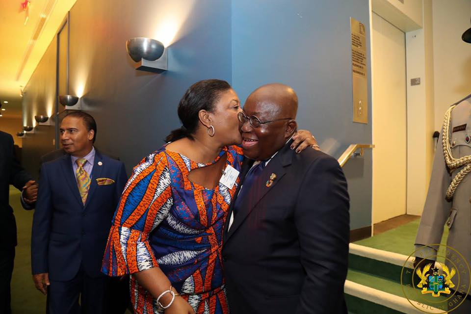 PHOTO: Ghana's President, First Lady Showcase love at UN