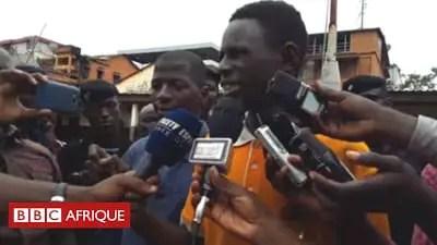 Video: Thief congratulates police for arresting him