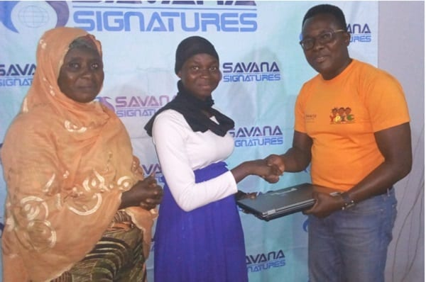 Eleven Young Girls Receive Laptops from Savana Signatures