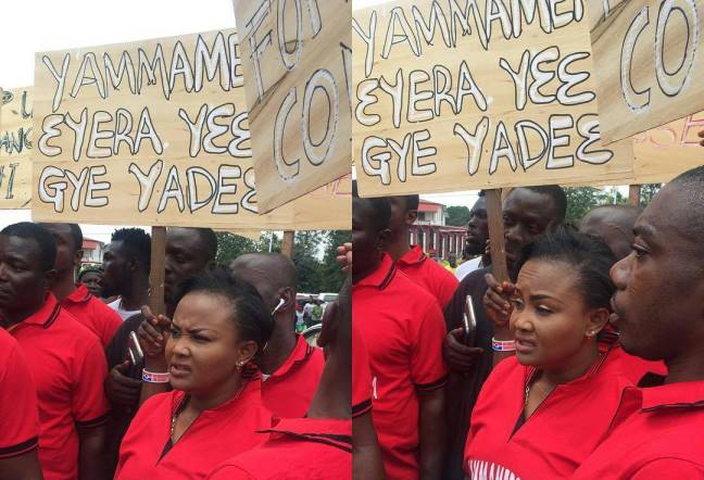 Kumawood actors, actresses hit streets of Kumasi to fight telenovelas