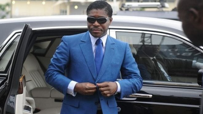 Vice President of Equatorial Guinea Teodorin Obiang jailed 3yrs in France for fraud