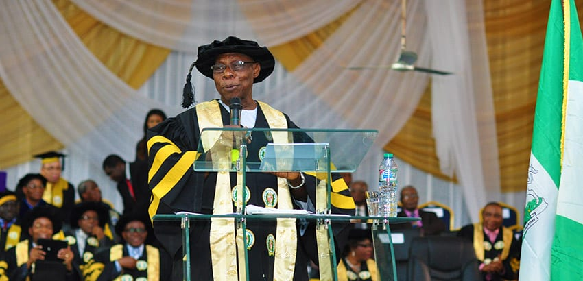President Olusegun Obasanjo graduates with PhD in Christian Theology