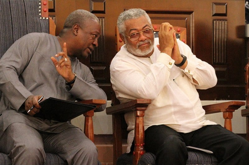 VIDEO:Rawlings, Mahama 'snub' each other at 25th anniversary of 4th Republic Celebration