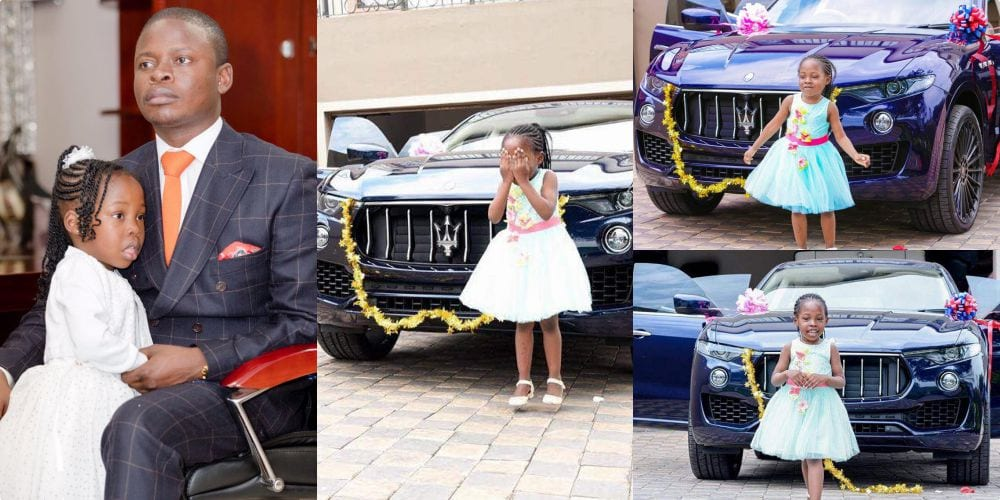 PICTURES:Pastor buys his daughter a brand new Maserati Jeep for her 6th birthday