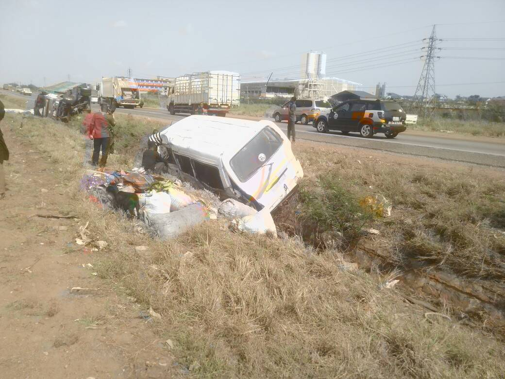 Eight people in critical condition after accident on the Tema Motorway