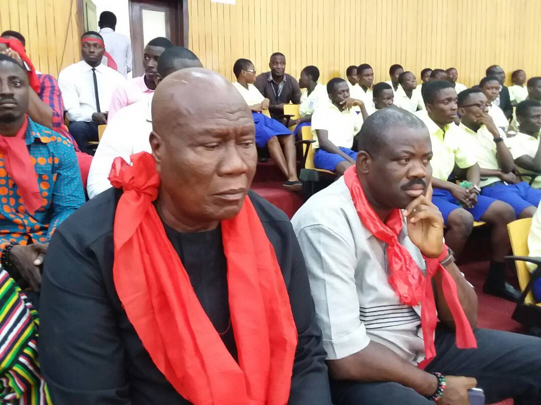 PHOTOS: red-clad top NDC leaders besiege parliament over US Military deal