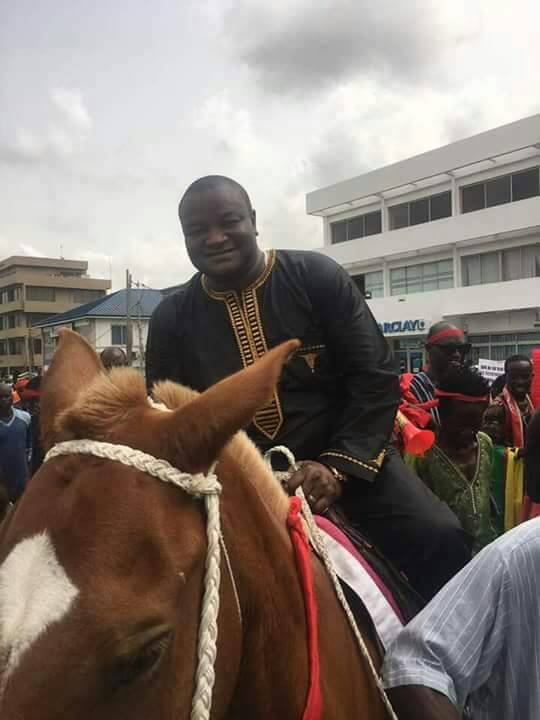 Hassan Ayariga storms US Military deal demo on horse back