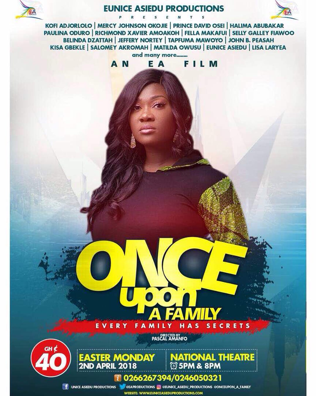 Mercy Johnson Okojie in Ghana for movie premiere on Easter Monday
