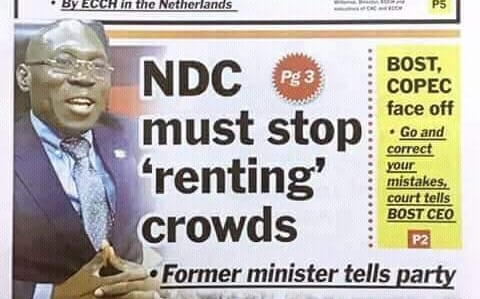 NDC crowd renting: Shut up, 'hypocrite'- NDC boys take Inusah Fuseini to the cleaners
