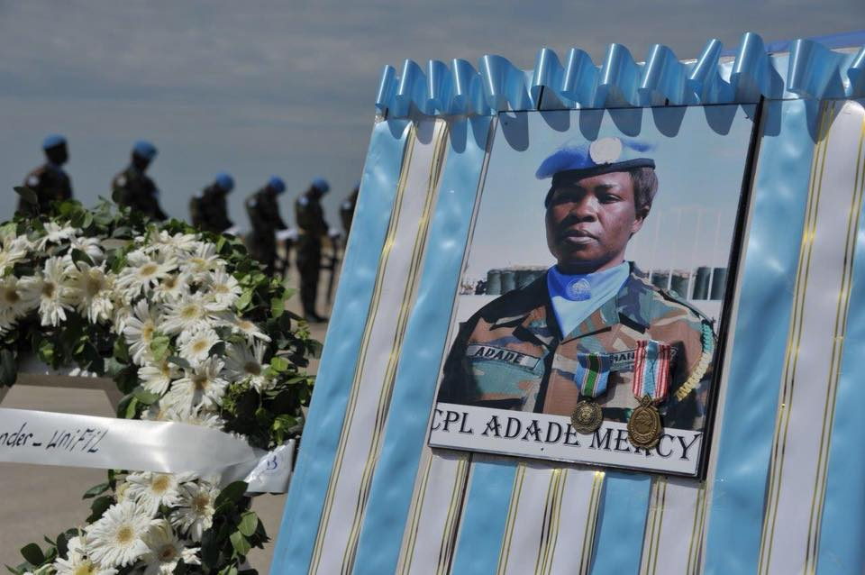 PICTURES:Ghanaian female  soldier dies in Lebanon