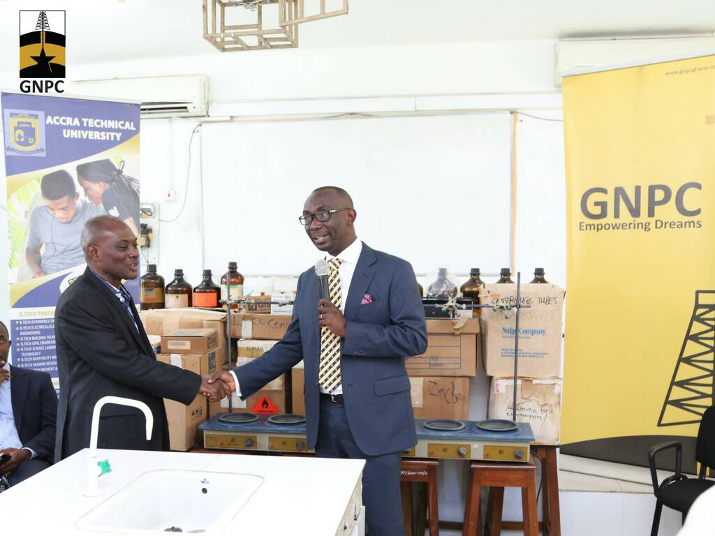 GNPC donates Laboratory equipment to Accra Technical University