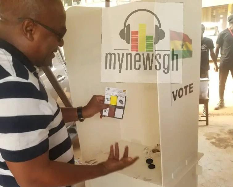 Mahama's YES vote Ballot paper for Savannah Region LEAKS 1
