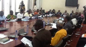 A public accounts committee sitting