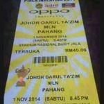 Buy cheap final ticket piala malaysia pahang vs jdt 1 november 2014
