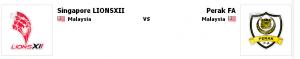 lions xii vs perak, perak vs lions XII