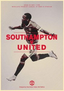 manchester united vs southampton , poster manchester united ,