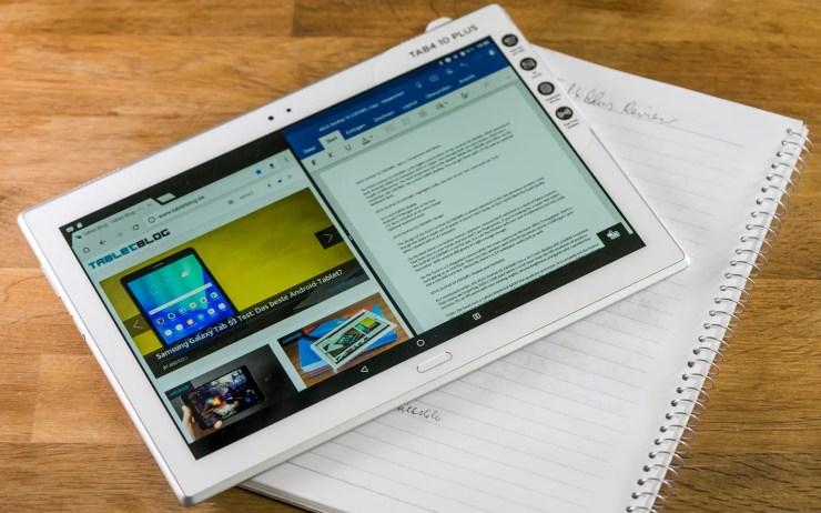 Lenovo Tab 4 10 Plus Split View